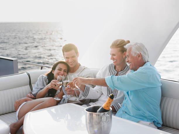Boating adventure stock photo