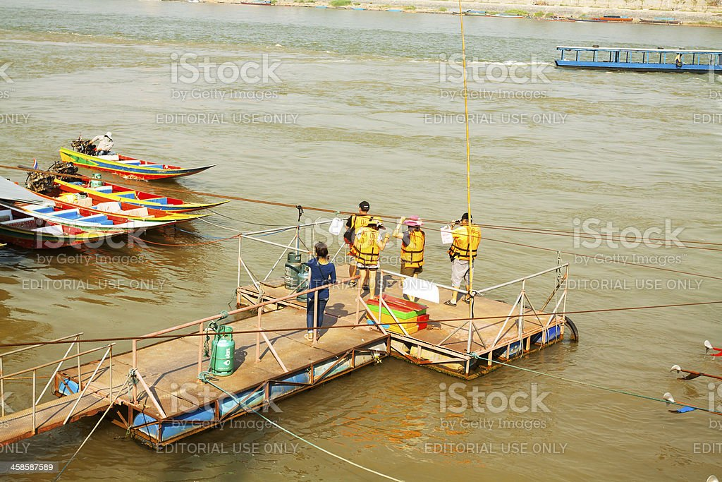 Boating at golden triangle royalty-free stock photo