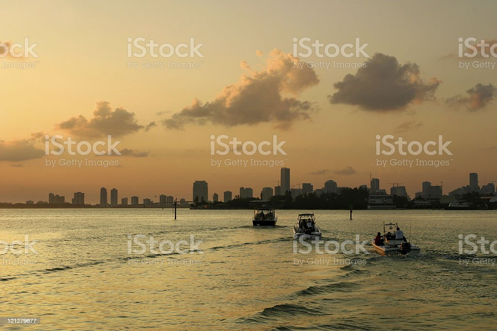 Boating in Florida royalty-free stock photo