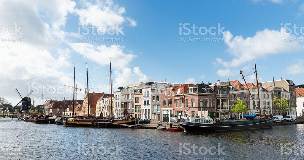 Boating in Leiden stock photo