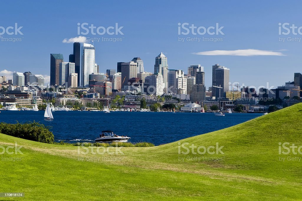 Boating in Seattle royalty-free stock photo