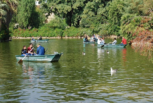 Boating lake in Barcelona