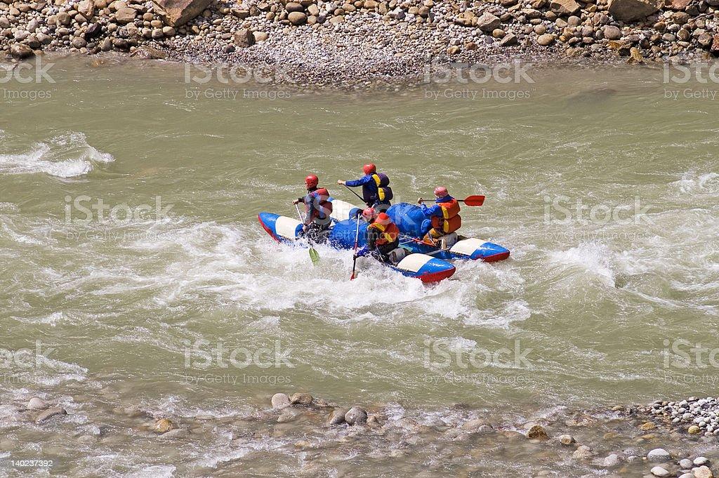 Boating on Ganga [1] royalty-free stock photo