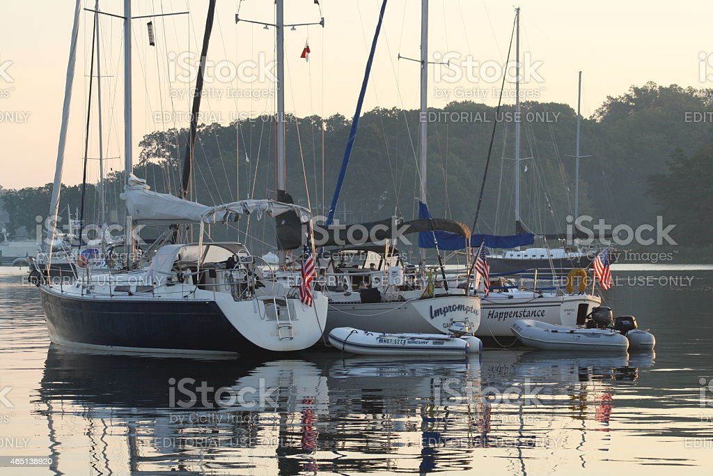 Boating on the Chesapeake Bay stock photo