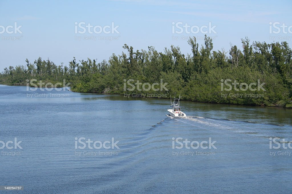 Boating on the Intracoastal Waterway stock photo