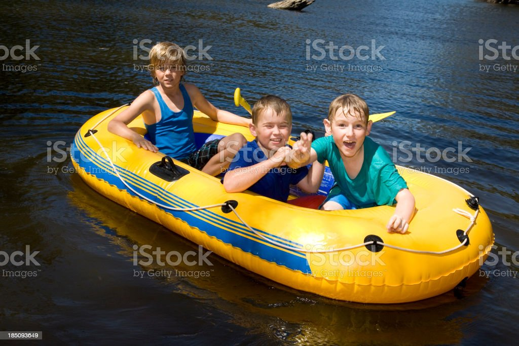 Boating On The River stock photo