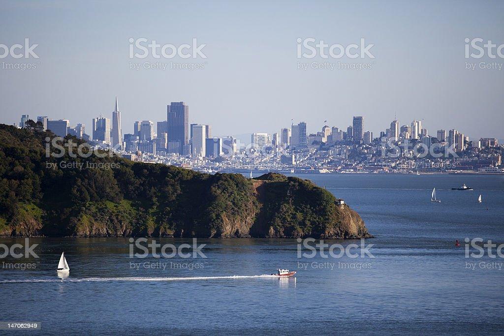 SF Boating royalty-free stock photo