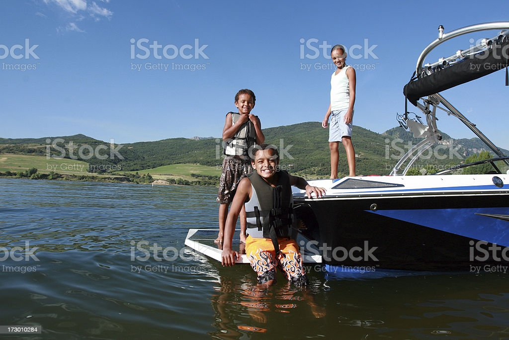 Boating stock photo