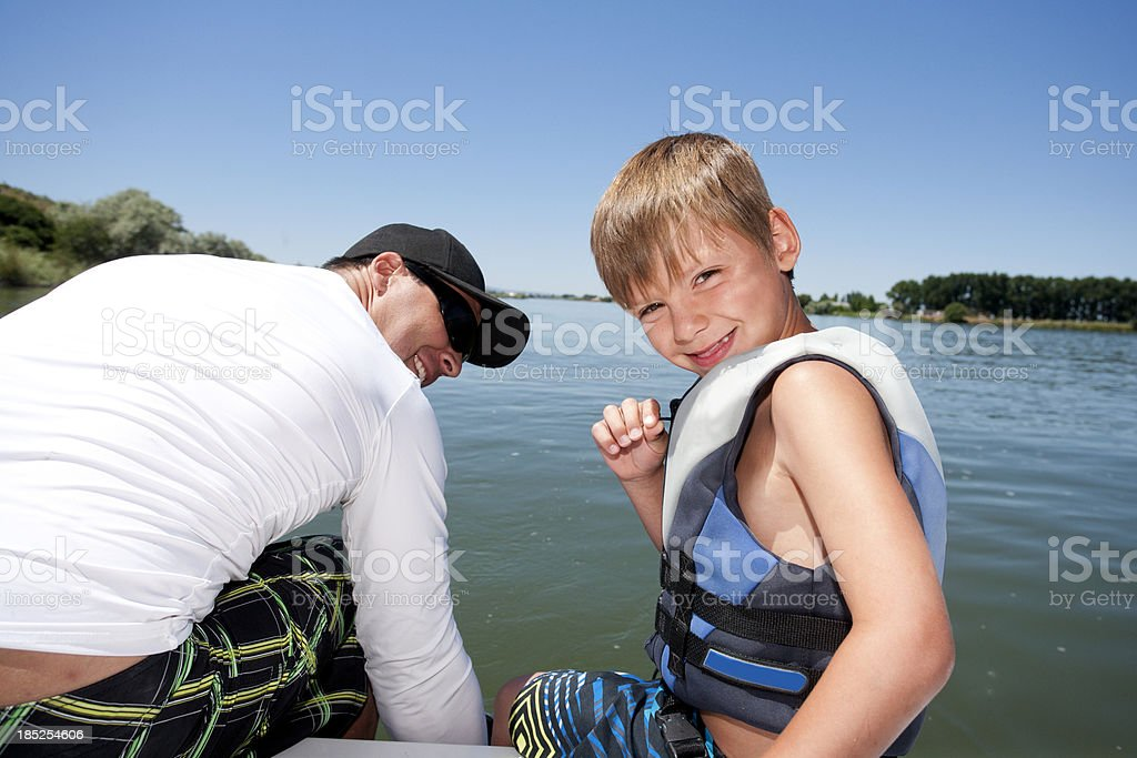 Boating royalty-free stock photo