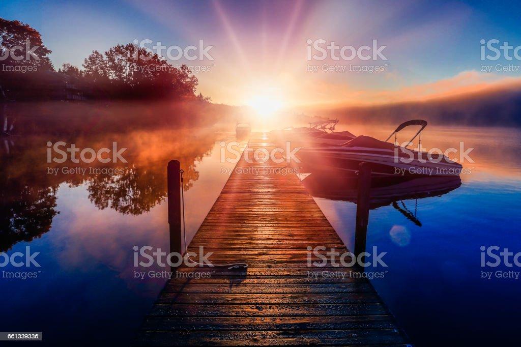 Boating Season stock photo
