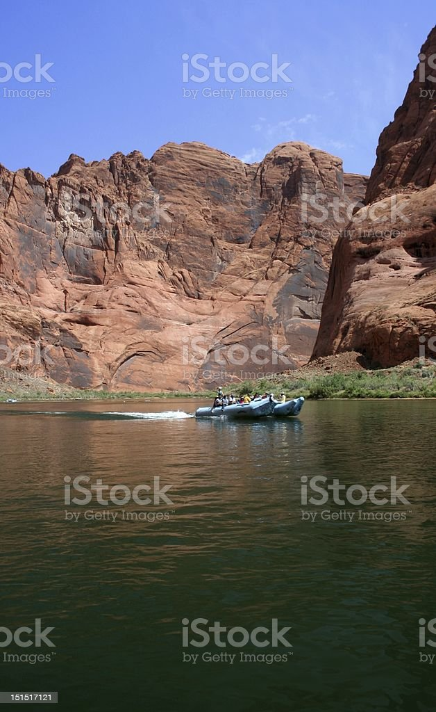 Boating (or rafting) through Glen Canyon : Istockphoto