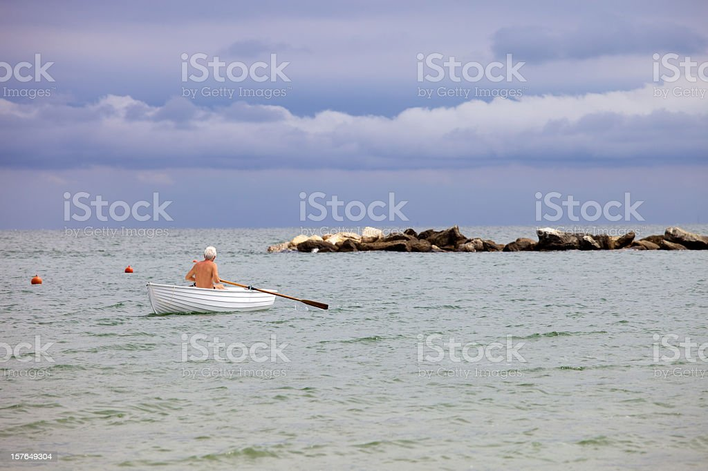 Boatman royalty-free stock photo