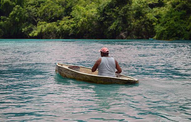 Boatman two stock photo