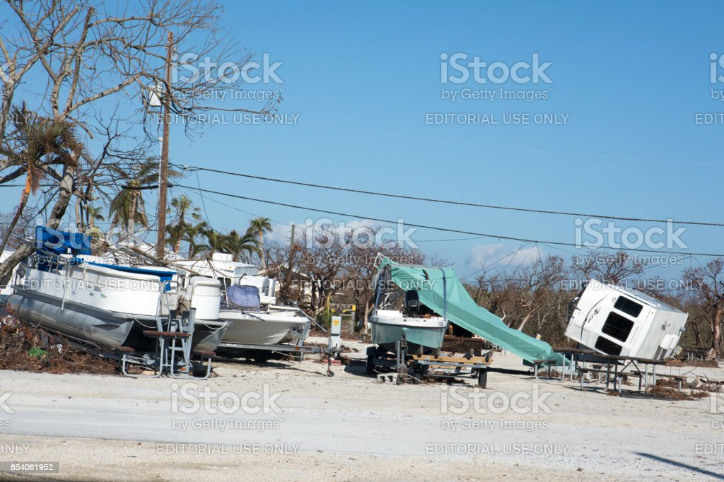 Summerland Key, Florida, United States- Sept 17, 2017: Significant...