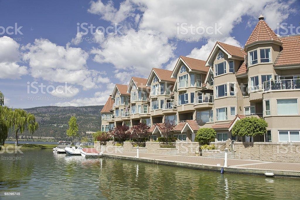 Boats and Condominiums royalty-free stock photo