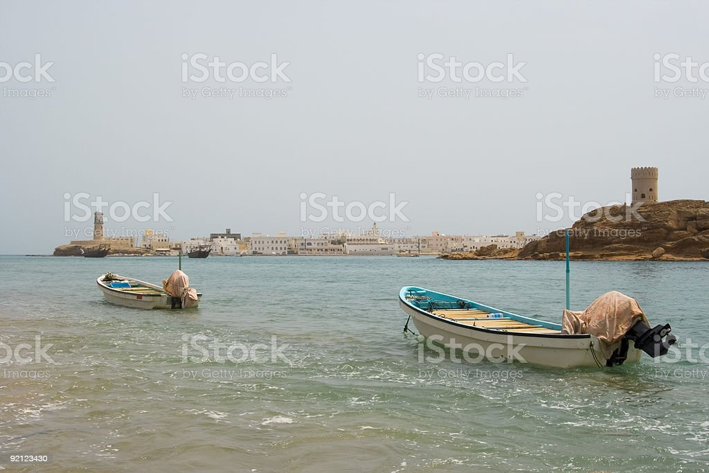 Boats and Forts royalty-free stock photo