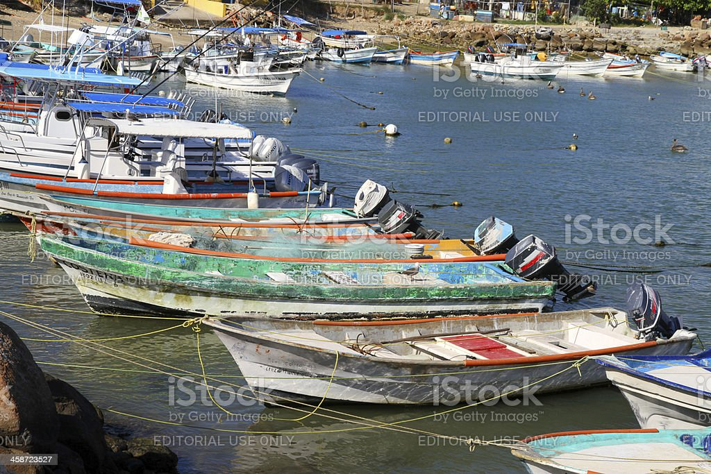 Boats and Ropes royalty-free stock photo