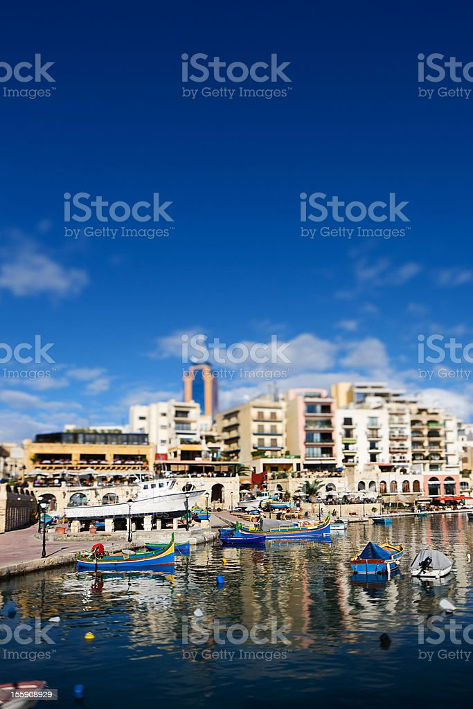 Boats and yachts in Malta royalty-free stock photo