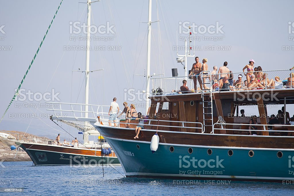Boats are in the Akyarlar side- Bodrum royalty-free stock photo