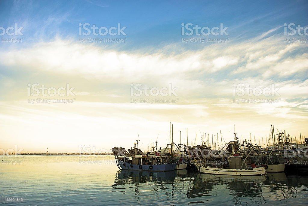 Boote am Hafen – Foto