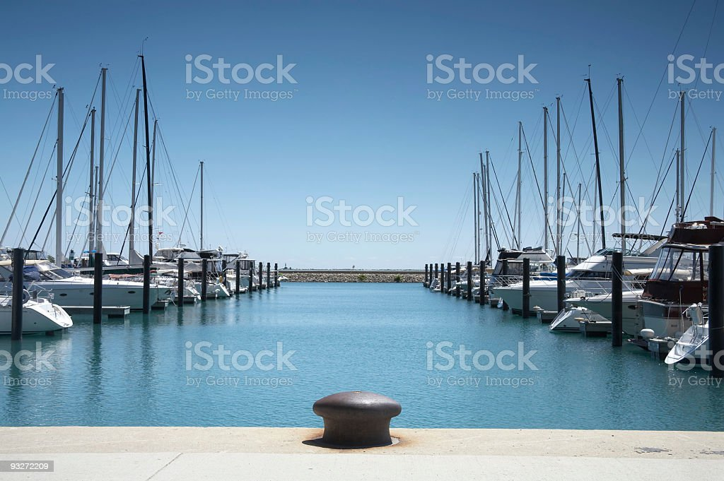 Boats at Harbor stock photo