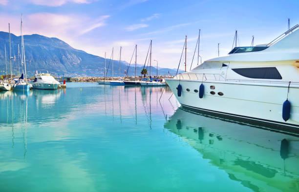 boats at Kalamata Peloponnese Greece stock photo