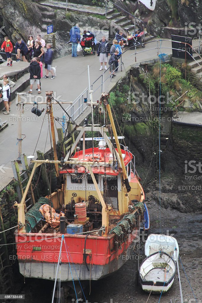 Boats at low tide royalty-free stock photo