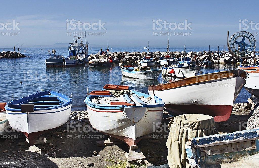 Boats at Marina Grande, Sorrento, Italy stock photo