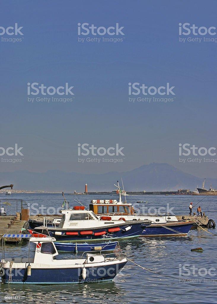 Boats at Naples royalty-free stock photo