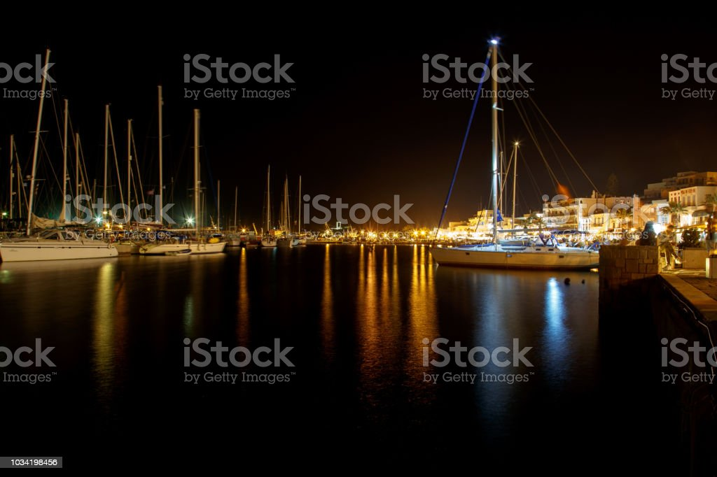 Boats at Naxos Island Greece stock photo