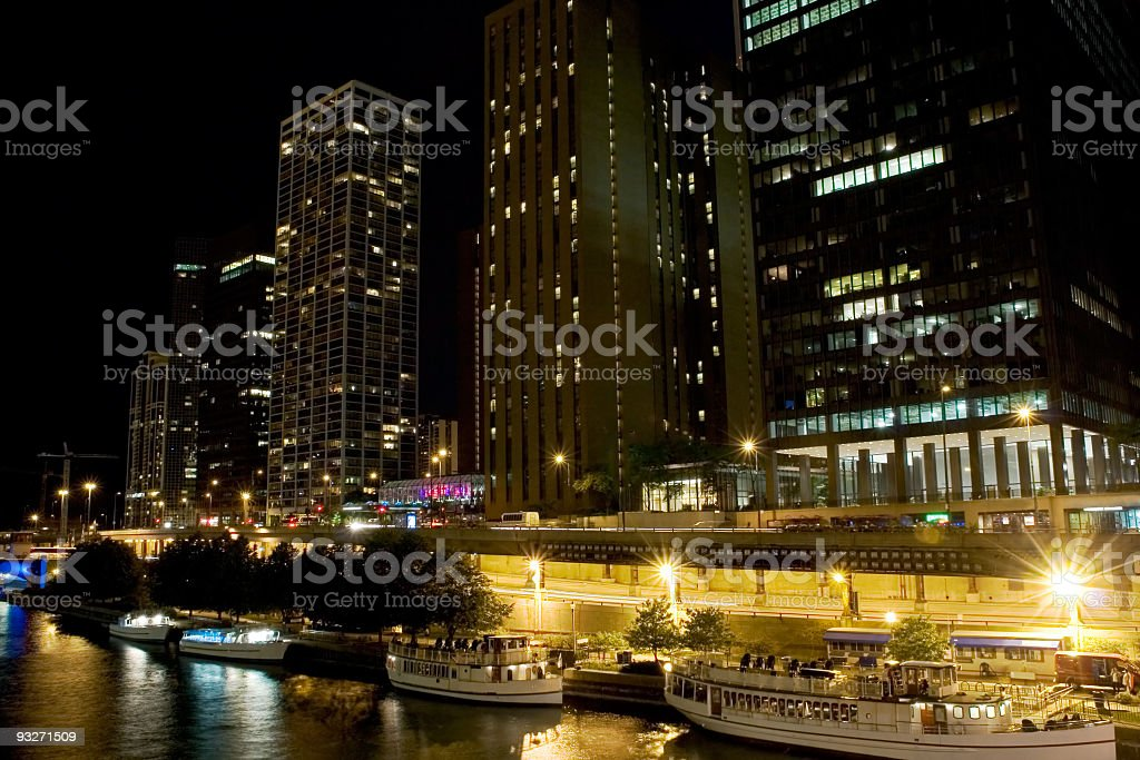 Boats At Night royalty-free stock photo