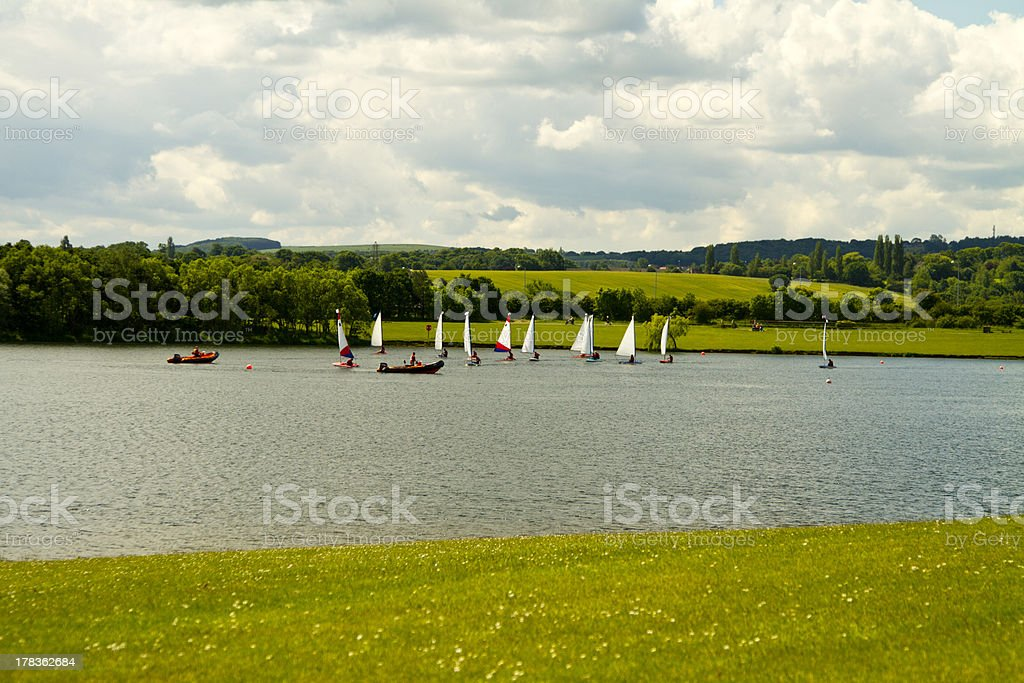 Boats at pugneys water park stock photo