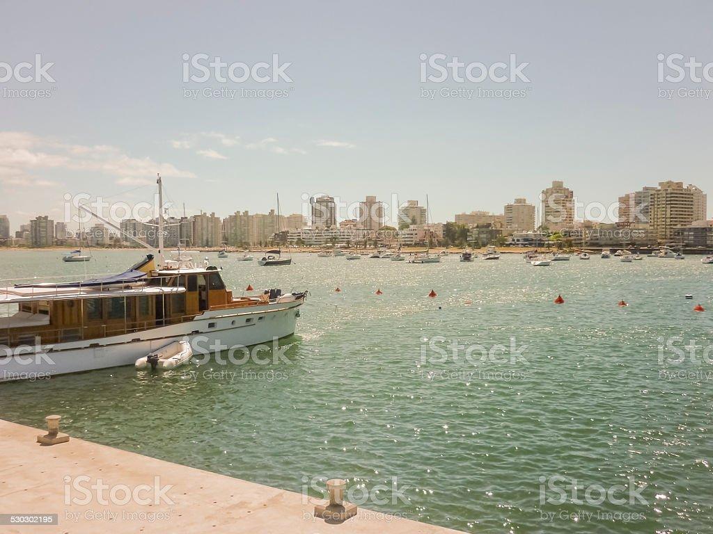 Boats at Punta del Este Port stock photo