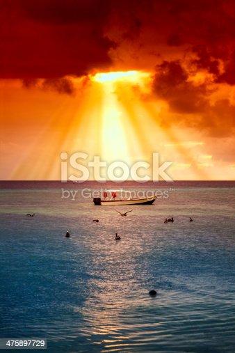 istock Boats at sunset Margarita island Venezuela 475897729