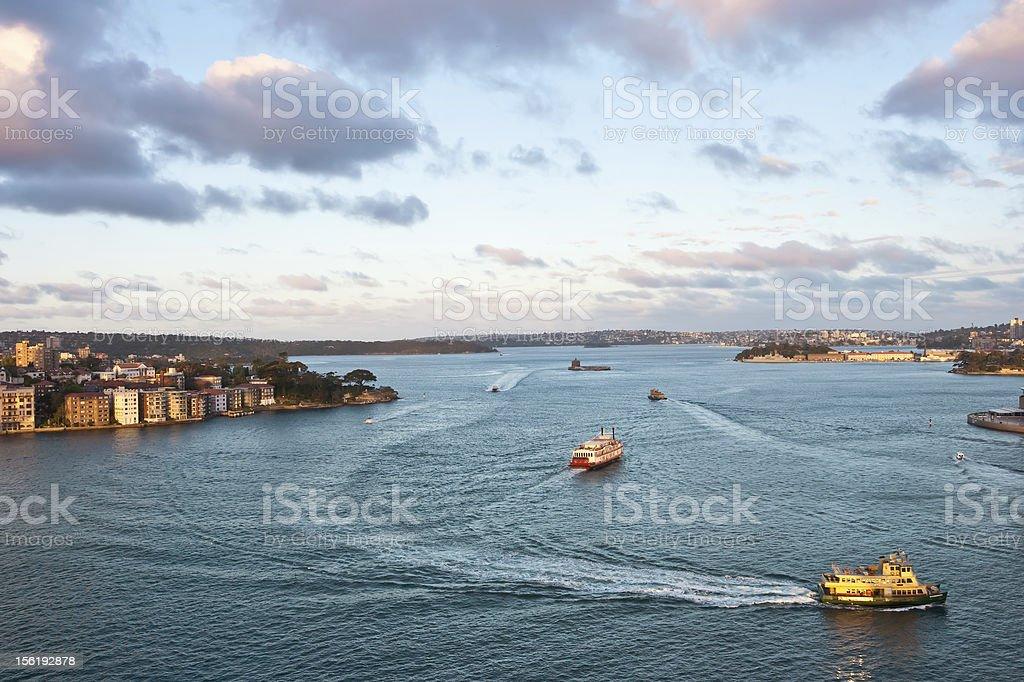 Boats at Sydney's Harbour, Australia royalty-free stock photo