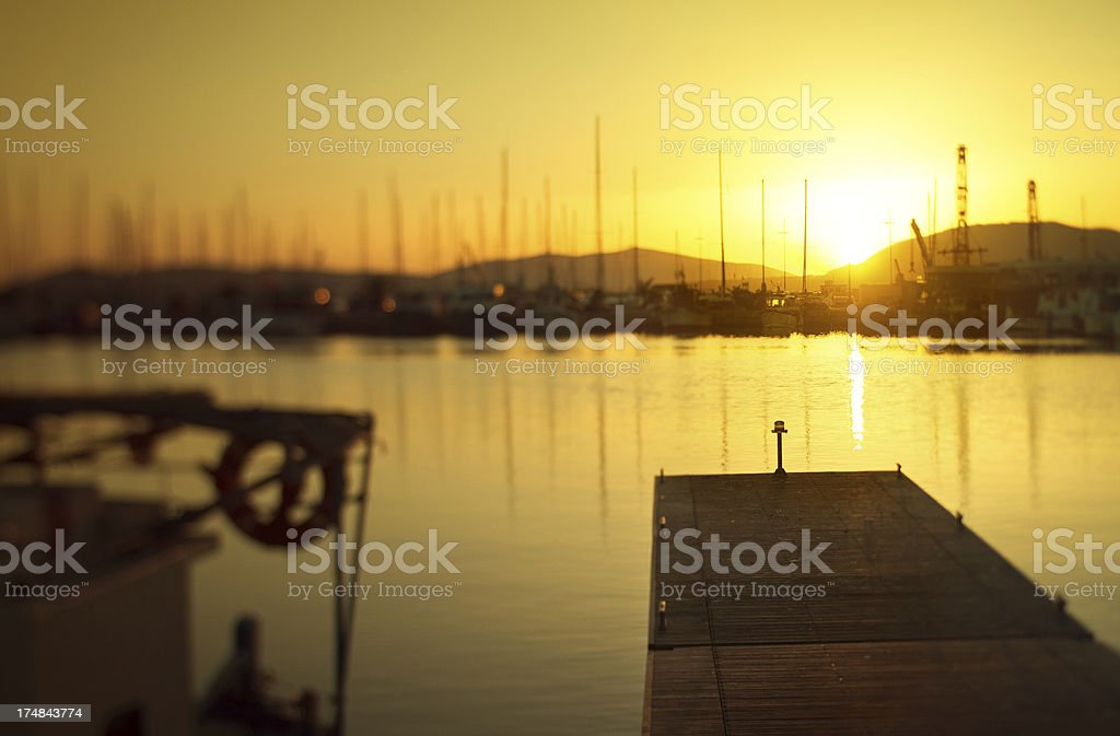 Boats at the Harbor of Alghero, Sardinia, Italy stock photo