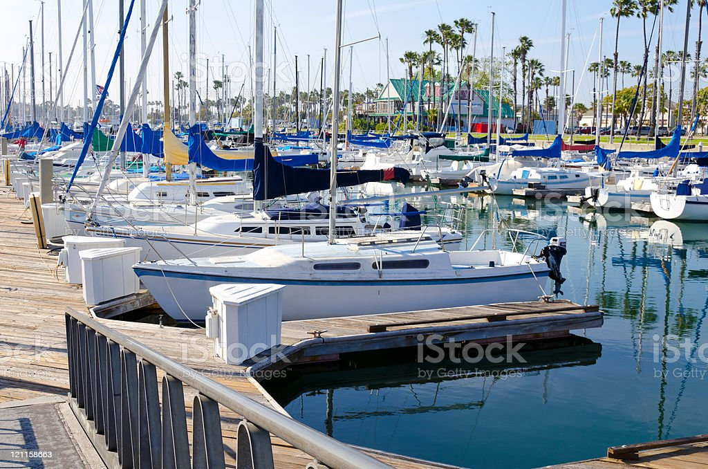 Boats at the marina royalty-free stock photo