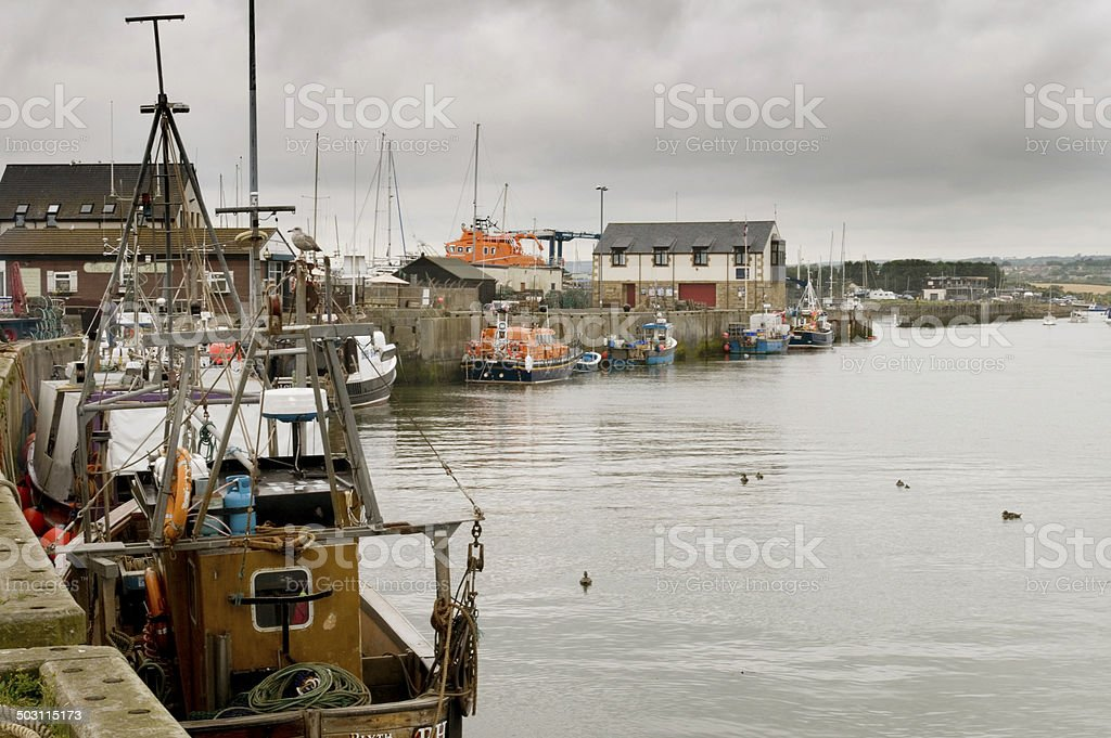Boats at the quayside stock photo