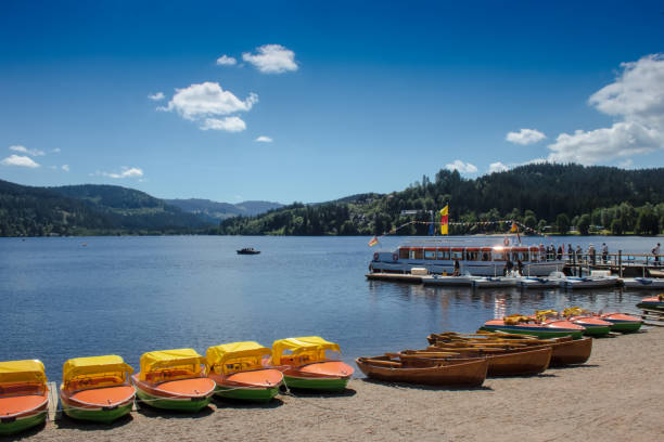 Boote am Titisee/Germany stock photo