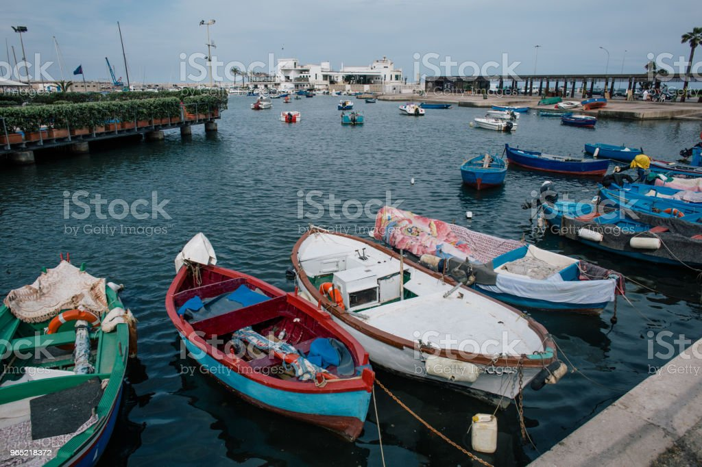 Boats Bari Apulia sea summer Italy royalty-free stock photo