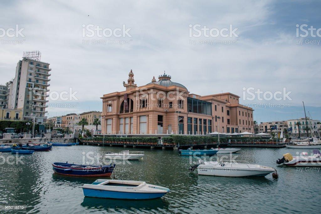 Boats Bari Apulia sea summer Italy zbiór zdjęć royalty-free