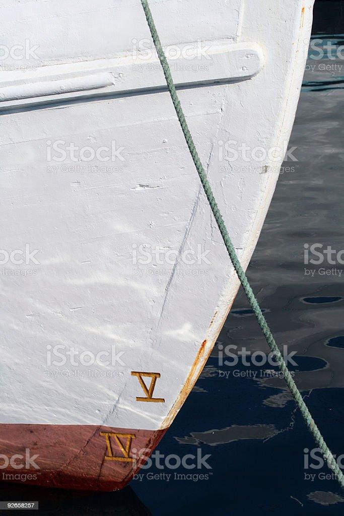 Boats' Bow royalty-free stock photo