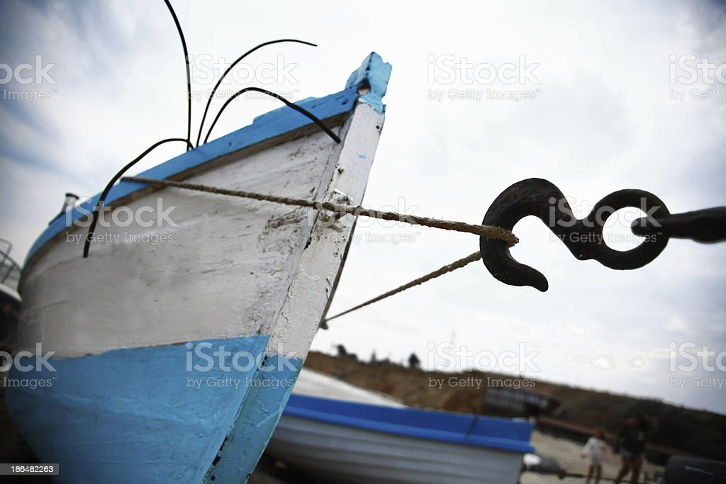 Boats by the sea royalty-free stock photo