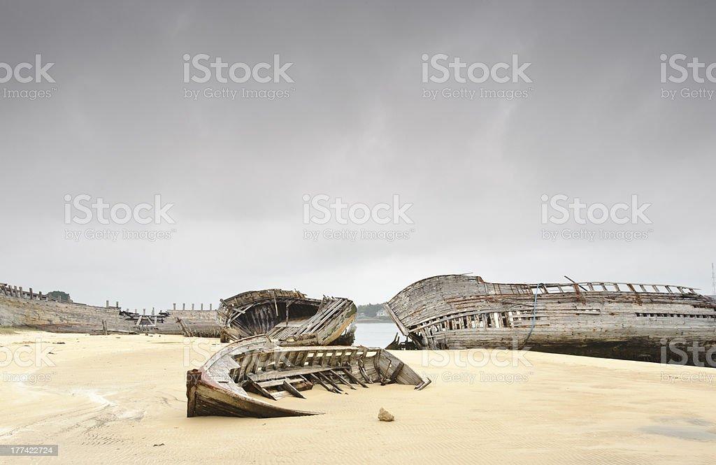 boats cemetry royalty-free stock photo