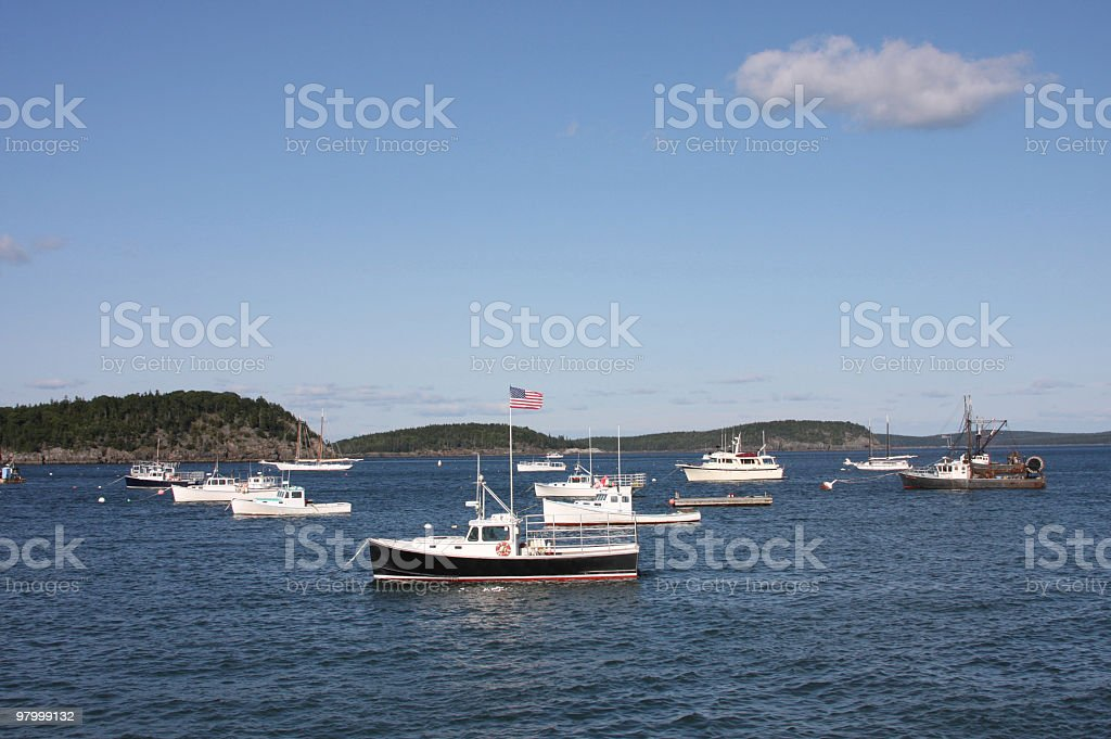 boats dock at a harbour royalty-free stock photo