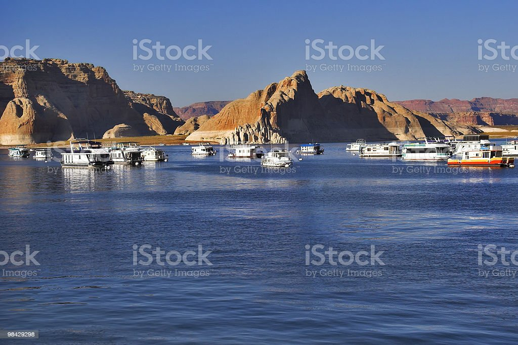 Boats expect tourists royalty-free stock photo