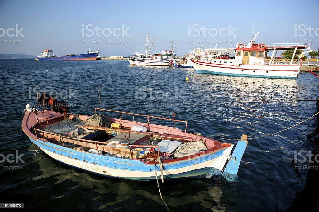 boats floating royalty-free stock photo
