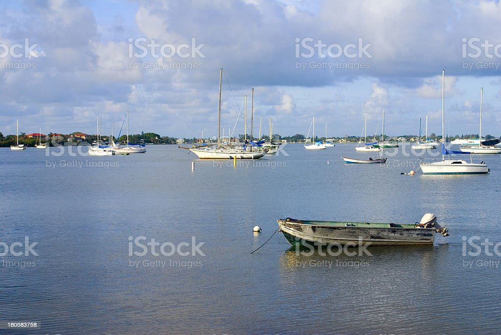 Boats in a Bay royalty-free stock photo