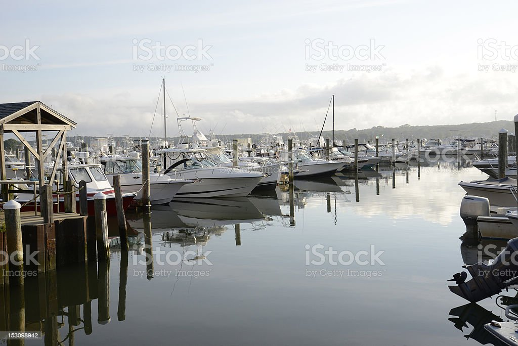 boats in a marina royalty-free stock photo