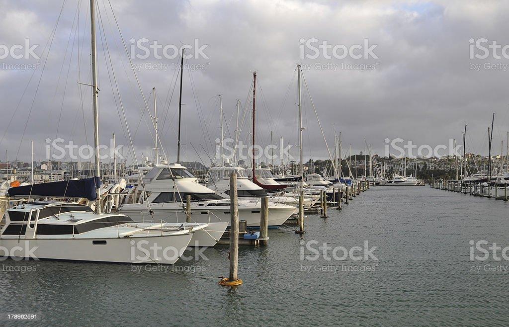 Boats in a Marina stock photo